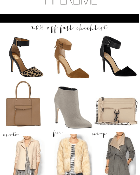 Fall Checklist Sale