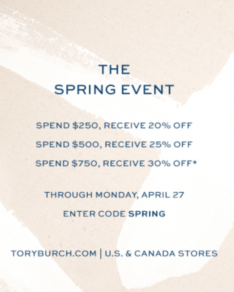 Tory Burch Spring Sale