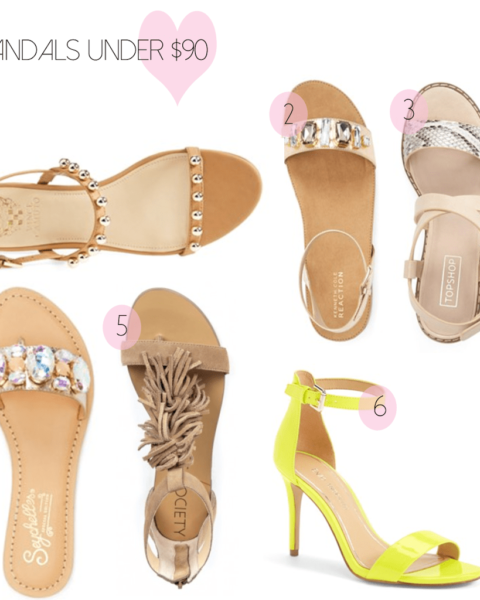 Sandals under $90