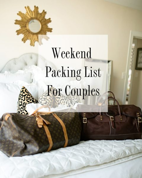 Weekend Packing List for Couples