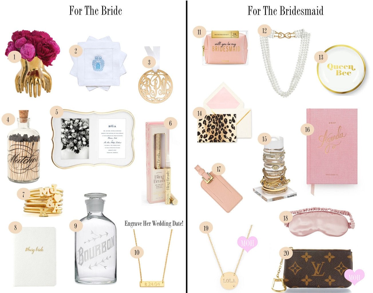 Bride Bridesmaids Gifts Chronicles Of Frivolity