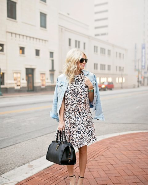 Leopard Dress and Denim Jacket