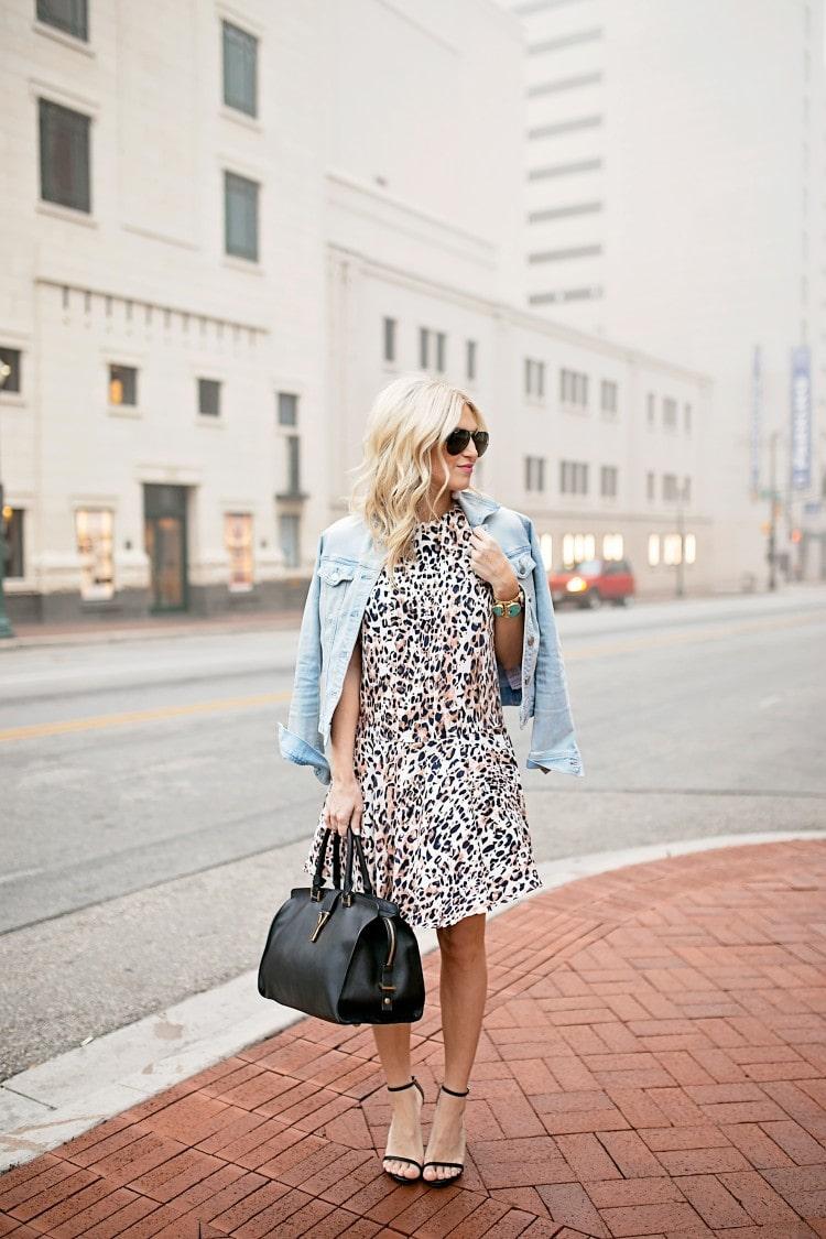 Leopard Dress and Denim Jacket