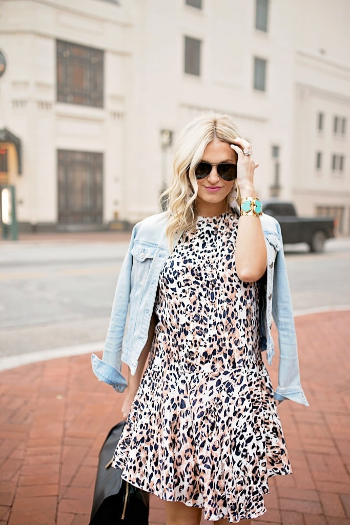 Leopard Dress And Denim Jacket Chronicles Of Frivolity