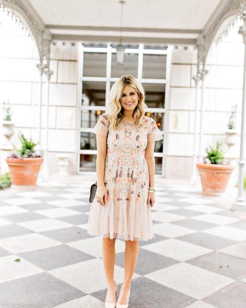 Designer Dupe Dress for a Spring Wedding