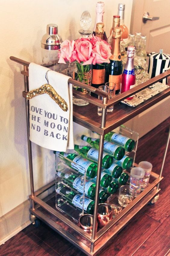 How To Decorate A Bar Cart Chronicles Of Frivolity