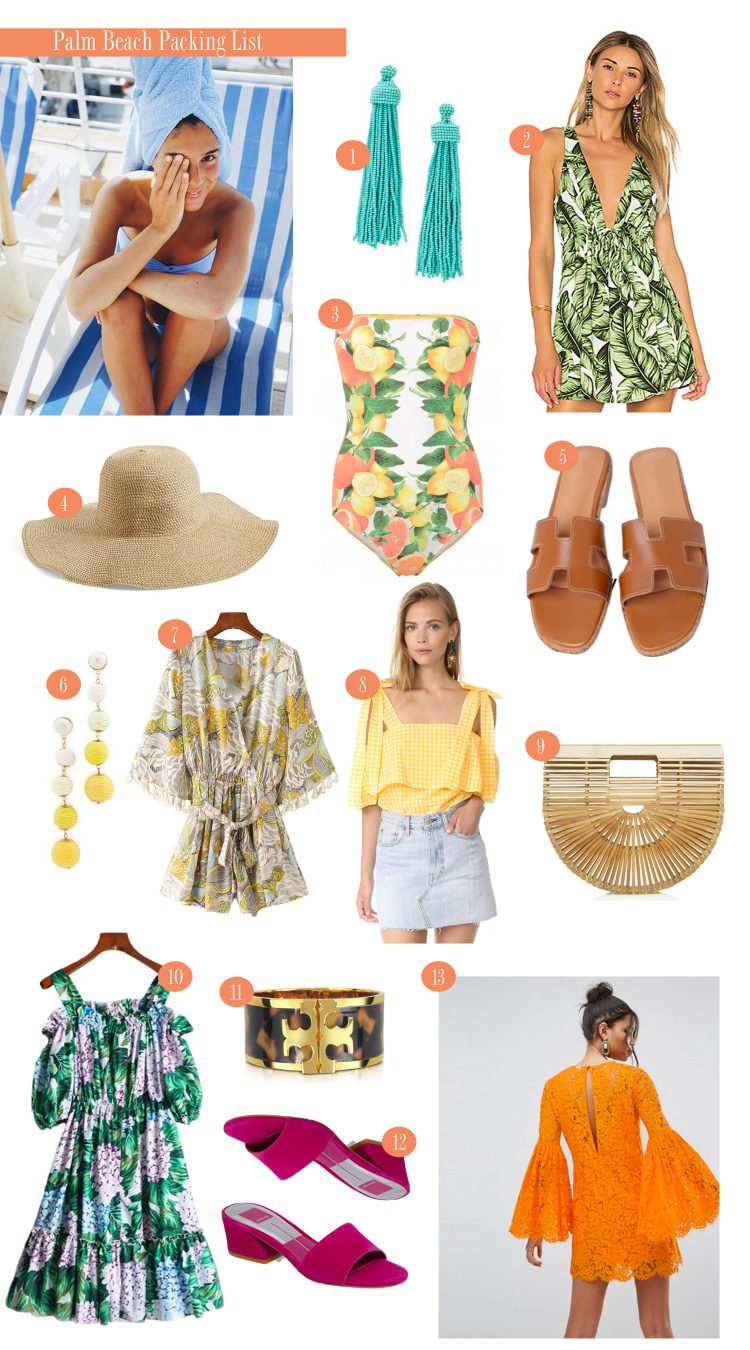 Packing List for Palm Beach