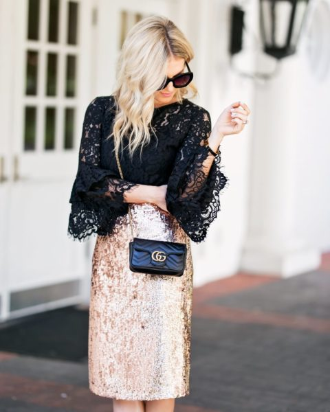 Styling a Sequin Skirt