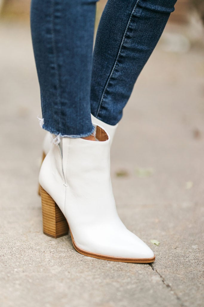Try The Trend  White Booties