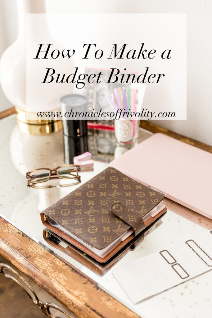 how to make a budget binder chronicles of frivolity