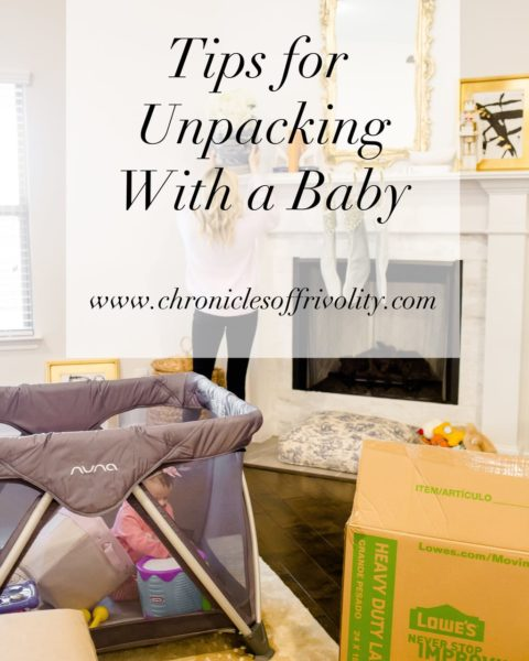 Tips for Unpacking With a Baby