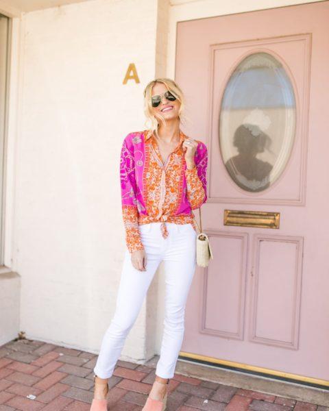 Pink Top + Weekend Plans