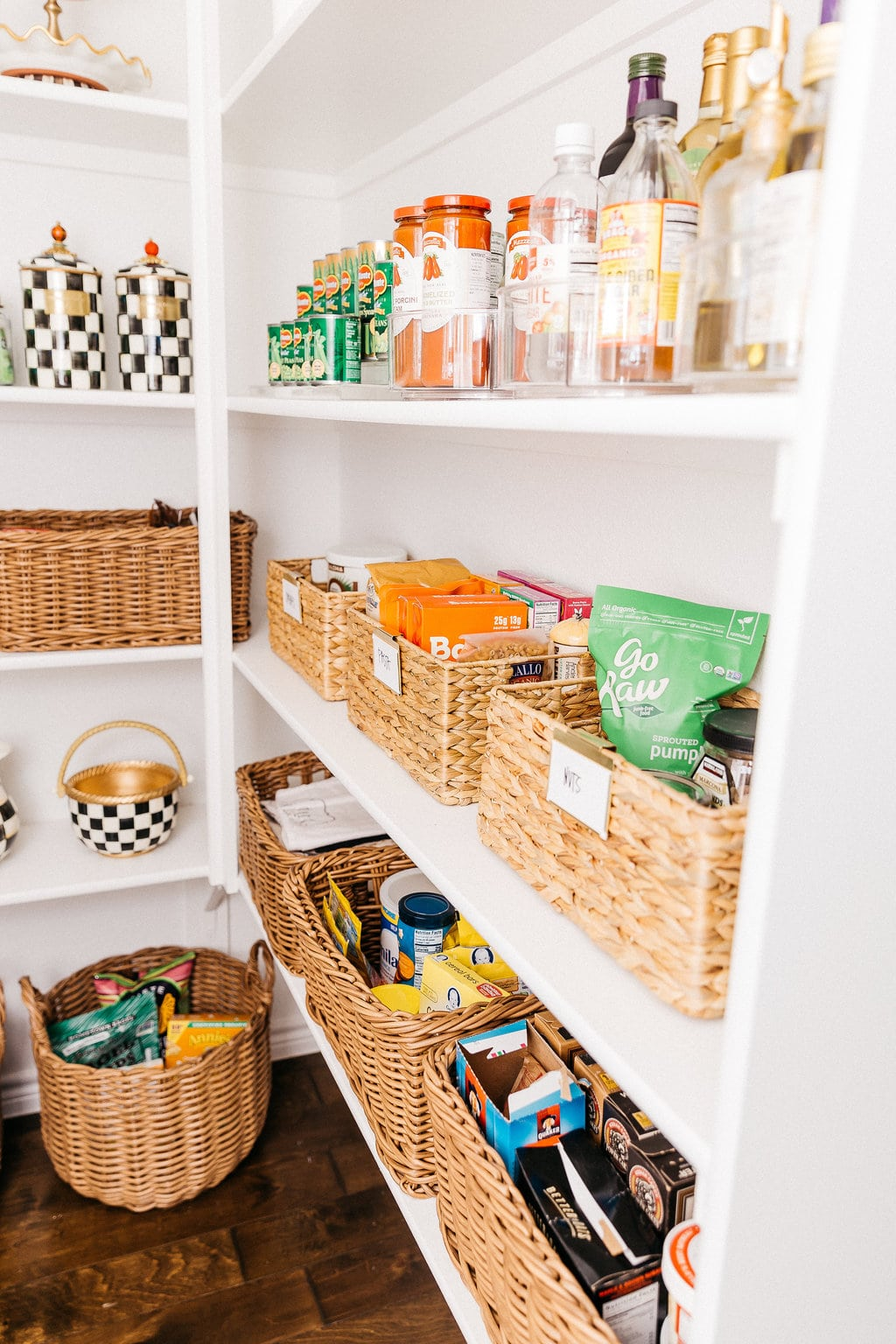 container store bins organizing pantry