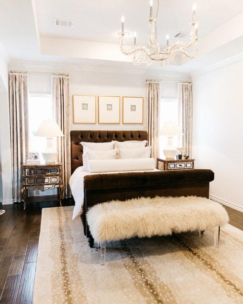 Master Bedroom Before & After with Corbett Lighting