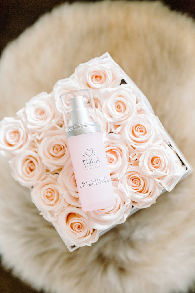 Tula Acne Gel on Flowers