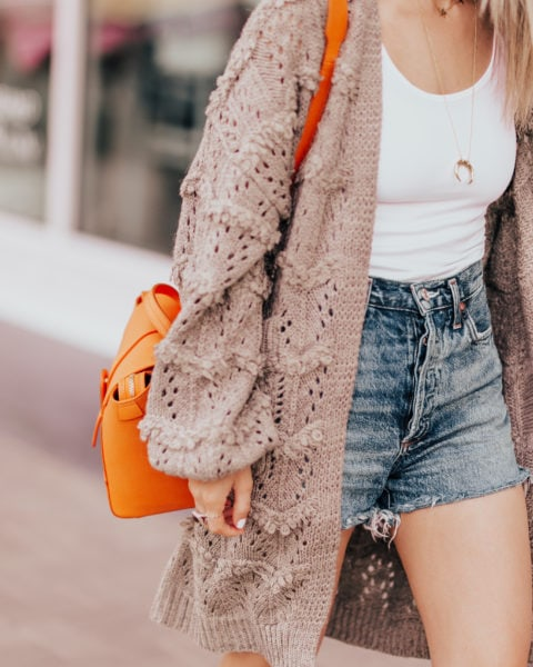 Styling a Cardigan with Shorts