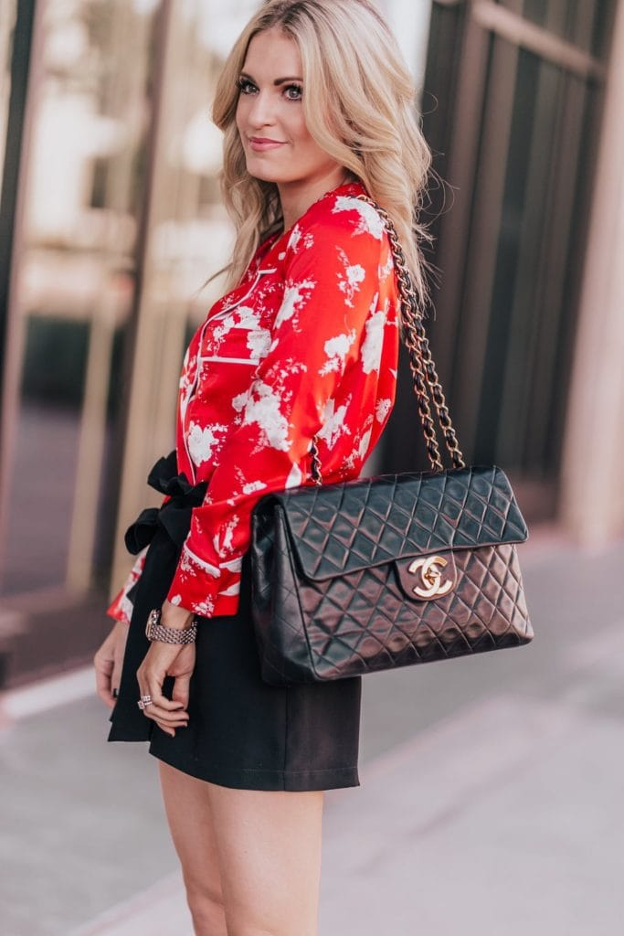 Blonde Girl with Chanel Bag