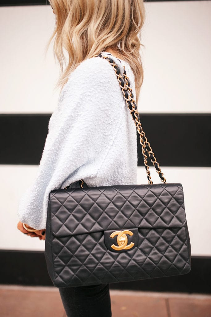 black flap chanel bag