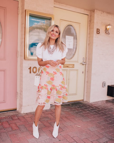 Styling a Lace Skirt