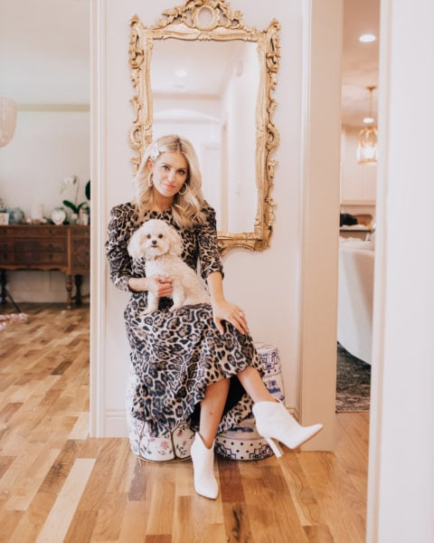 Eliza J Leopard Dress