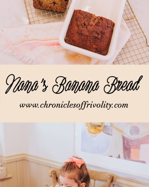 Nana's Banana Bread Recipe