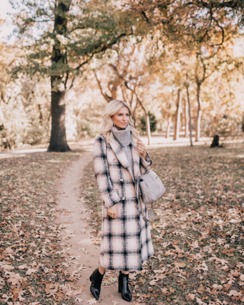 THE Topshop Plaid Coat