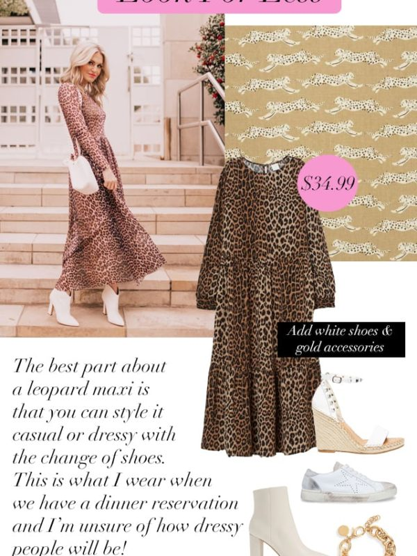 Look for Less: Leopard Dress