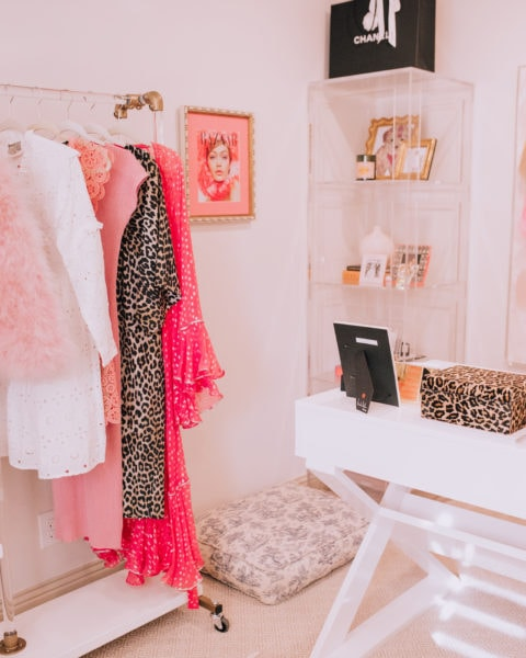 Pink and White Office Tour