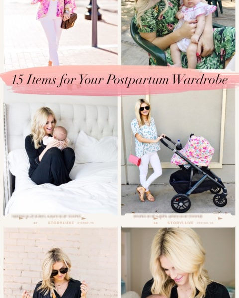 15 Items for Your Postpartum Wardrobe