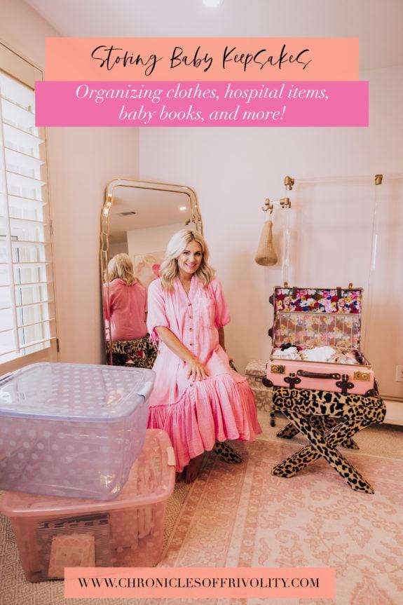 How I Store Baby Keepsakes