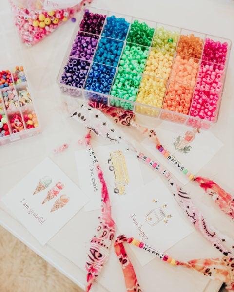 Back to School Craft: Affirmation Bracelets