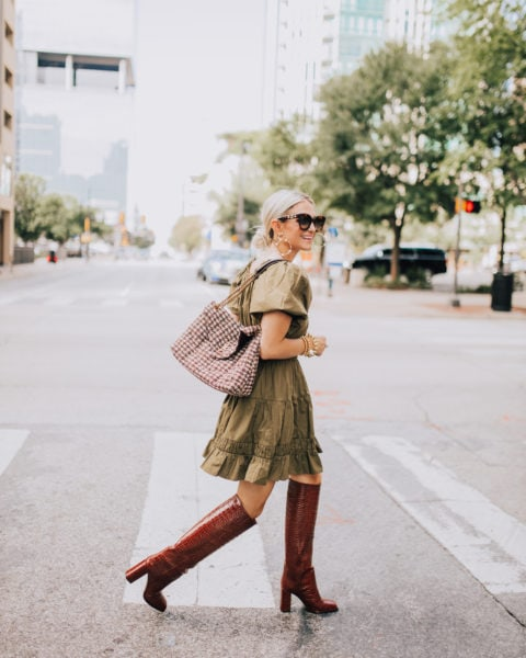 Olive Dress for Fall